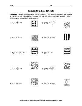 Inverses of Functions Zen Math