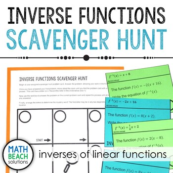 Inverses of Linear Functions Scavenger Hunt Activity