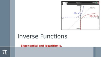 Inverses with exponential and logarithmic functions.