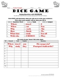 Inversion Practice in French, Dice Game