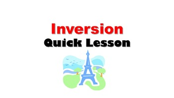 Inversion Questions French Quick Lesson