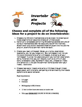 Invertabrate Project