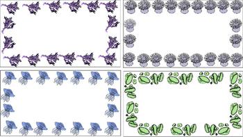 Invertebrate Blank Task Cards With Animal Borders
