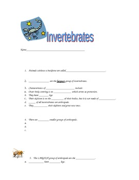 Invertebrate Discussion Guide-goes with free flipchart