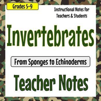 Invertebrate Unit Teacher Notes