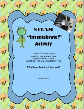 "Vertebrate and Invertebrates Extension Activity ""Inventebrate Activity!"