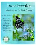 Invertebrates - Montessori 3-Part Cards