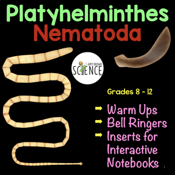 Invertebrates Platyhelminthes and Nematoda Warm Ups