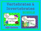 Invertebrates and Vertebrates Bundle using QR Codes