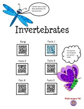 Invertebrates and Vertebrates Bundle using QR Codes Listening Center