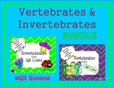 Invertebrates and Vertebrates Bundle using QR Codes Listening Center