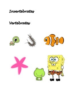 Invertebrates and Vertebrates Sort
