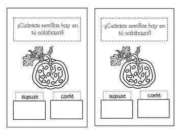 Investigación de calabazas/pumpkin minilesson-centers