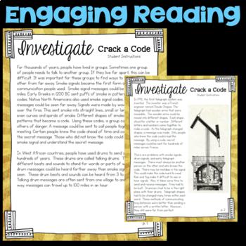 Investigate - Crack a Code - Communication through Codes & Technology