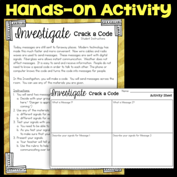 Investigate - Crack a Code - Communication through Codes & Technology