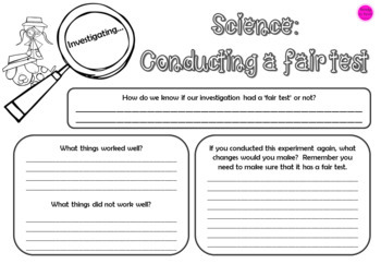 Investigate Science through fair tests and keeping safe