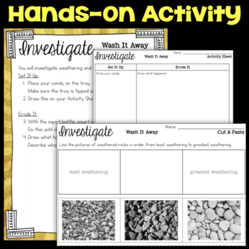 Investigate Water Erosion and Weathering - Second Grade Science Stations