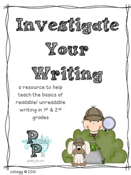 WORKSHOP: Investigate Your Writing- Basic Elementary Editing