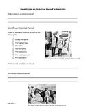 Investigate an Historical Period in Australia
