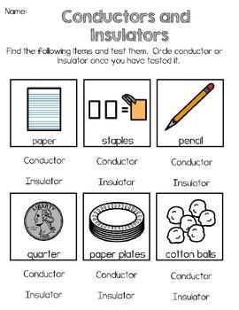 Investigate conductors and insulators