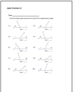 Investigating Angles Worksheet