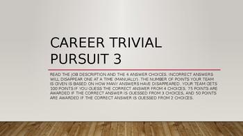 Investigating Careers: Career Trivial Pursuit 3