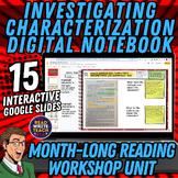 Investigating Characterization: DIGITAL Interactive Notebo