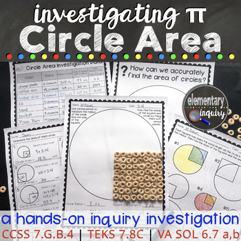Measuring Circles and Finding Pi: Circle Area and Radius Square Inquiry Activity