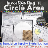 Measuring Circles and Finding Pi: Circle Area and Radius S