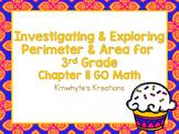 Investigating & Exploring Perimeter & Area for 3rd Grade - GO Math
