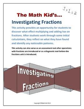 Fractions: Understanding through investigation