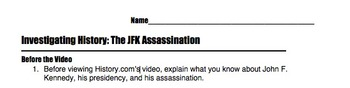 Investigating History: The JFK Assassination Video Note Guide Questions