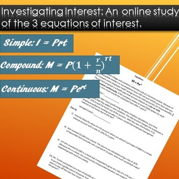 Investigating Interest: An online study of the 3 equations of interest