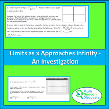 Calculus:  Limits as x Approaches Infinity - An Investigation