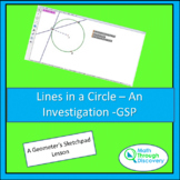 Lines in a Circle - An Investigation - GSP