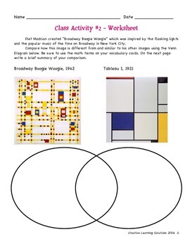 Investigating Math Through The Arts;Geometry for Middle School-Modrian