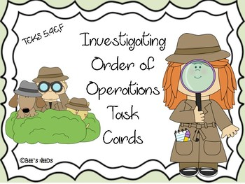 Investigating Order of Operations Task Cards