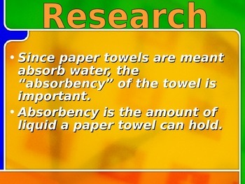 Investigating Paper Towels
