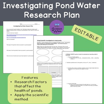 Investigating Pond Water Research Plan
