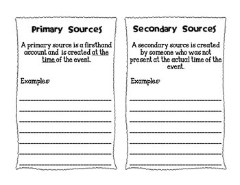 Hands-On Activity for Investigating Primary and Secondary Sources!