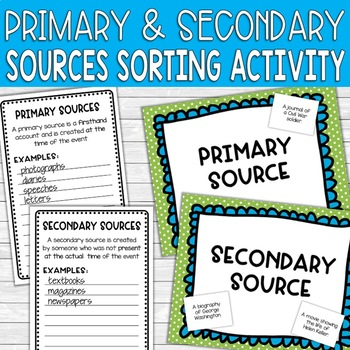 Hands-On Activity for Investigating Primary and Secondary