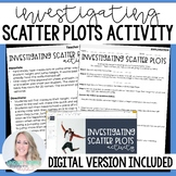 Scatter Plots and Line of Best Fit Activity