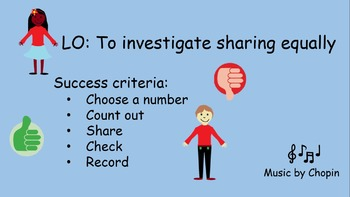 Investigating Sharing Equally- Leading to Odd and Even numbers- PowerPoint