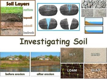 Investigating Soil Lesson & Flashcards-classroom unit, study guide, exam prep