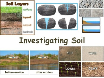 Investigating Soil Lesson & Flashcards-classroom unit, stu