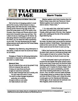 Investigating Storm Tracks