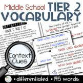 Investigating Middle School Tier 2 Vocabulary: Context Clues