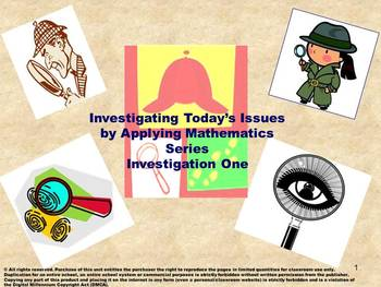 Investigating Today's Issues by Applying Math Series: Book One