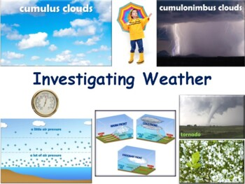 Investigating Weather Flashcards - task cards study guide exam prep 2017 2018