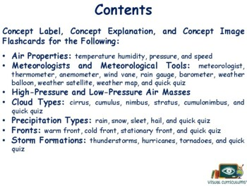 Investigating Weather Lesson & Flashcards- study guide, exam prep 2017 2018